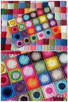 Transcendent Crochet a Solid Granny Square Ideas. Inconceivable Crochet a Solid Granny Square Ideas. Crochet Square Blanket, Crochet Squares Afghan, Granny Square Crochet Pattern, Crochet Granny, Knit Or Crochet, Crochet Patterns, Crochet Blankets, Granny Squares, Crochet Afghans