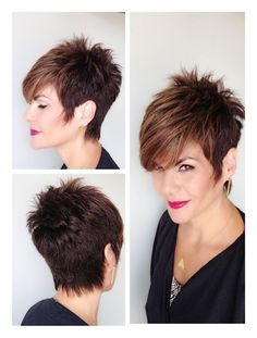 Happy New Hair! 10 beautiful looks to celebrate the new year .- Happy New Hair! 10 wunderschöne Looks, um das neue Jahr einzuläuten! Happy New Hair! 10 beautiful looks to ring in the New Year! on the teeth - Funky Short Hair, Short Hair Cuts For Women, Short Hair Styles, Short Brunette Hair, Cute Hairstyles For Short Hair, Short Haircut, New Hair, Hair Today, Hair Beauty