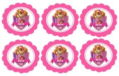 Paw Patrol Cupcake Toppers Paw Patrol Favor Tags by PartyOnInvites