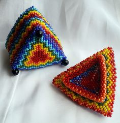 Triangle Beaded Box TUTORIAL PATTERN