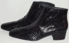 Mens Black Authentic Snakeskin Designer Boots by Giorgio Brutini 155491 Tuscan Men Dress, Dress Shoes, Giorgio Brutini, Designer Boots, Snake Skin, Ankle, Black, Fashion, Moda
