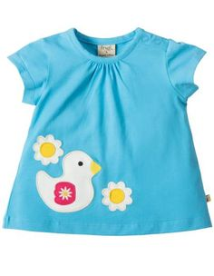 Frugi Amber Applique Top,Sky/Duck - £17.99 - A great range of Frugi Amber Applique Topskyduck - FREE Delivery over £25!
