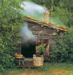 """a """"savusauna"""" -- a smoke sauna. Smoke saunas have experienced great revival in recent years since they are considered superior by the connoisseurs. They are not, however, likely to replace all or even most of the regular saunas because more skill, effort"""