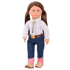 Our Generation Regular Cowgirl Doll - Darcy-Lynn : Target Straight Brunette Hair, Warm Brown Hair, Equestrian Collections, Journey Girls, Our Generation Dolls, Patterned Jeans, Mom Daughter, Red Skirts, Western Outfits