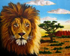 lion art  Panthera Leo