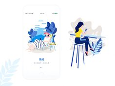 Onboarding designed by Lejoyi. the global community for designers and creative professionals. Flat Design Illustration, People Illustration, Character Illustration, Digital Illustration, Graphic Illustration, Web Design, Design Sites, Ui Design Inspiration, Screen Design