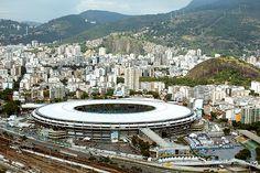 Vista aérea do Maracanã, no Rio de Janeiro