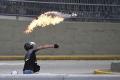 Fotos: Caos em Caracas
