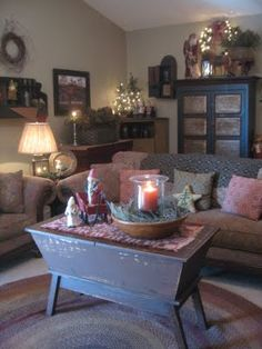The Patriot Homeplace: Search Results For Christmas. Primitive Living RoomCountry  ...