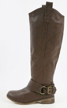 Don't go without your buckle riding boots this chilly season! It looks amazing paired with your skinnies and day time dresses! I MakeMeChic.com