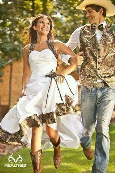 beautiful camo wedding dress