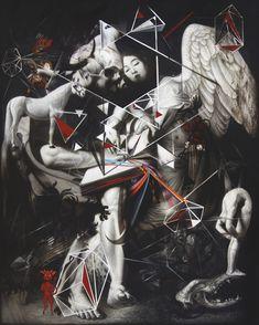 Ronald Ventura (Filipino, b. Fragmented of Light, Oil on canvas, 60 x 48 in. via jimlovesart Art And Illustration, Fantasy Concept Art, Fantasy Art, Southeast Asian Arts, Art With Meaning, Dark Artwork, Surrealism Painting, Bear Art, Art Journal Pages