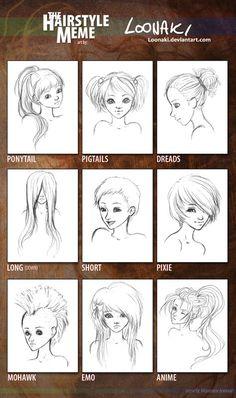 Hairstyle Meme by *Loonaki on deviantART