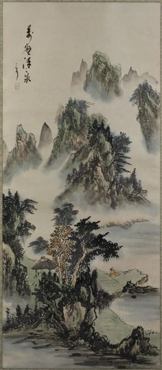 A Painting Paper Hanging Scroll