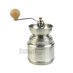 Manual Stainless Steel Coffee Bean Grinder Ceramic Burr Pepper Mill Tool #Unbranded
