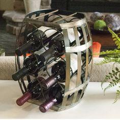 Barrel Shaped 6 Bottle Wine Rack - $35.98