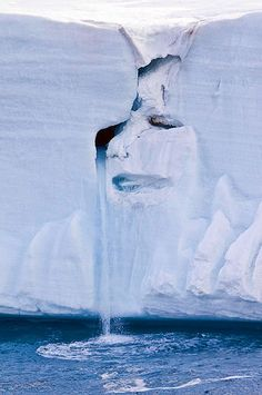 A look at our mother Earth's face, photoed on a glacier. Do you think like me that her's face is kinda sad?
