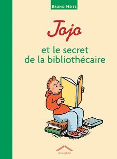 Jojo et le secret de la bibliothécaire de Bruno Heitz, Éditions Circonflexe - 9782878333909.  Jojo aime beaucoup aller à la bibliothèque, mais n'aime pas la nouvelle bibliothécaire, qui lui pose toujours des questions sur ce qu'il lit.