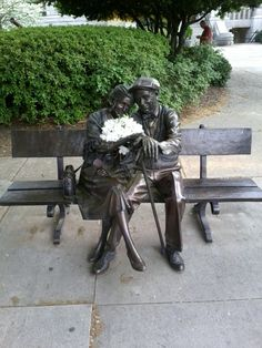 Decatur Square, Decatur GA ~ love the bronze couple. <3 Thomas Jefferson is nearby, too.