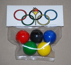 Olympic Rings Gumballs Party Favor