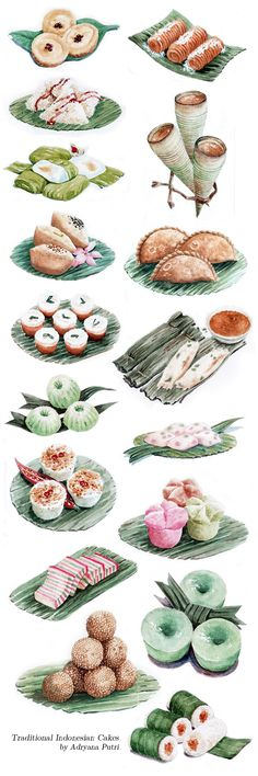 Indonesian Traditional Cakes for Sari Sari