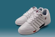 K-SWISS – Gstaad 'Up Close Review'  K-Swiss are an American heritage Tennis brand founded by two Swiss brothers in California. Renowned for their Tennis footwear, their groundbreaking shoe was the Si-18 International. Following on from that success they released their Gstaad court shoe.