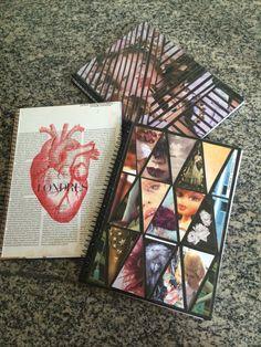 Customização de cadernos com revistas. Colagem. Volta às aulas. Diy.