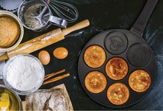 HF Haufson Pancake Pan, Deep Frying Pan, Pots And Pans Sets, Pan Set, Hot Pot, Steamer, Wok, Kids Meals, Cookware