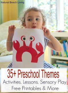 A year of Preschool Themes with activities, lessons, free printables, ideas, hands on learning, books, Sensory and so much more