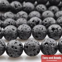 """Free Shipping Natural Stone AA Quality Volcano Lava Round Beads 16"""" Strand 4 6 8 10 12MM Pick Size For Jewelry Making No.LA1(China (Mainland))"""