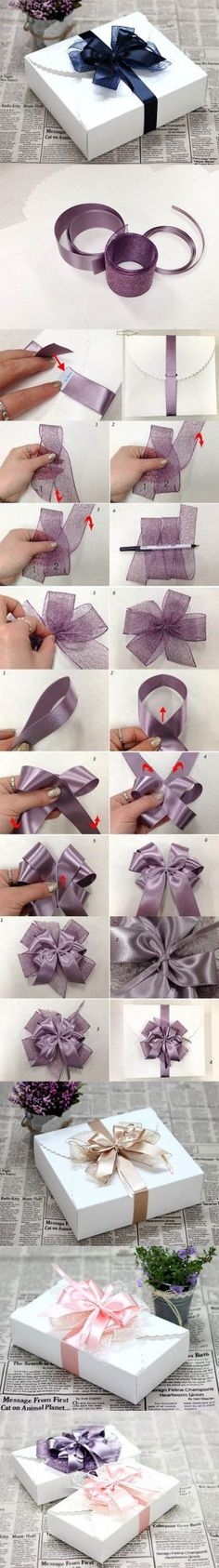 DIY Ribbon Bow for Gift Box Packaging 2