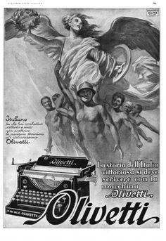 """Inserzione pubblicitaria della macchina per scrivere M20 pubblicata nel 1929 sulla rivista """"L'Illustrazione italiana"""" a cura dell'agenzia Dalmonte Acme."""