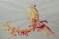 Phoenix. Design/clavicle shoulder placement. Words: beauty for ashes