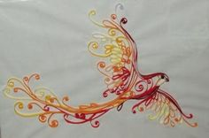Quilled fire bird. Love it!