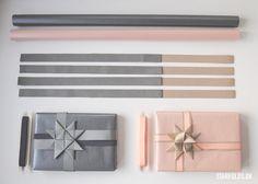 DIY Gaveindpakning - Brug strimler til julestjerner som gavebånd - Design by Starfolds. Paper Stars, Christmas Star, Gift Bags, Gift Wrapping, Wrapping Ideas, Wraps, Presents, Paper Crafts, Gifts