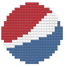 Pepsi – BRIK Kandi Patterns, Beading Patterns, Cross Stitch Designs, Cross Stitch Patterns, Macrame Bracelet Patterns, Pixel Drawing, Perler Bead Art, Hama Beads, Cross Stitch Baby