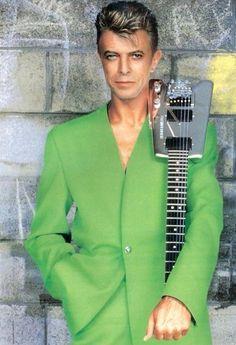 DB - the green jacket on Tin Machine's It's My Life tour 1991-1992