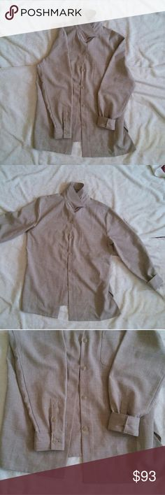 Casual Formal Working Shirt Very refreshing and light. It has one pocket at left chest. Perfect condition. Never worn.   If you buy it with its matching pants ('Casual Formal Working Pants' on my closet) you get 20 dollars off.  100% Polyester  Approximate measurements:  Length: 27 in Waist: 20 1/2 Sleeve length: 21 in Sleeve width: 8 1/2 in Stephanie Andrews Tops Button Down Shirts