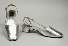 Pair of Woman's Shoes  House of Dior (France, Paris, founded 1946)  France, circa 1965  Costumes; Accessories  Kid leather, leather  9 1/2 x 2 3/4 x 4 1/4 in. (24.13 x 6.98 x 10.79 cm) each; Size: 6 A  Gift of Mr. and Mrs. John Frankenheimer (M.69.96.16a-b