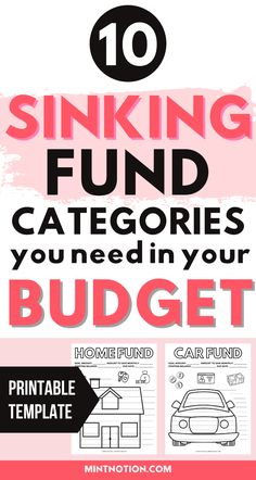 Sinking funds tracker printable to track and organize your sinking funds. Here's a list of the top sinking funds categories that you need in your budget. Sinking funds can be a great way to save money without having to dip in your emergency fund or go into debt. Sinking funds template.