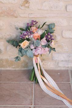 Romantic wedding bouquet: Romantic Borgo Petrognano Wedding in Tuscany