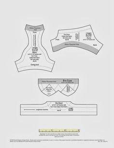 Moldes de roupa íntima: calcinha e sutiã,  para bonecas.