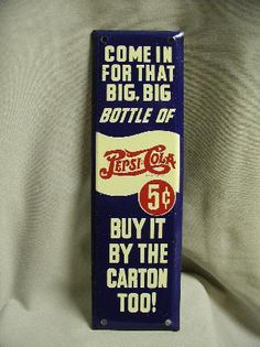 what is the percentage of increase when something goes from .05 to $2.05?  Antique Pepsi Cola Door Push Signs