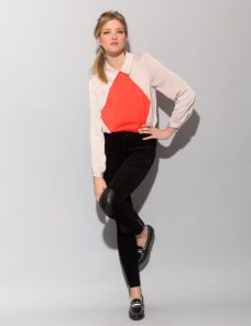 harlequin collar blouse $79