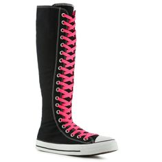 Converse Chuck Taylor All Star Double High-Top Sneaker - Womens ($50) ❤ liked on Polyvore featuring shoes, sneakers, converse, boots, 18. converse., women, converse footwear, converse shoes, hi tops and converse trainers