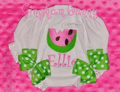 Fancy Pants, Watermelon Ribbon Bloomers, YOU CHOOSE COLOR,     By Gingham Bunny on Etsy, $19.99