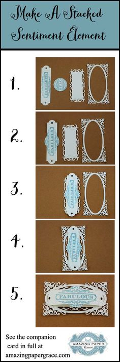 Create a dimensional panel for your card sentiments.