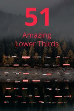 51 Amazing Lower Thirds After Effects Intro After Effects Intro, Lower Thirds, Word Design, After Effects Templates, Motion Design, Motion Graphics, Presentation Templates, Multimedia, Texts