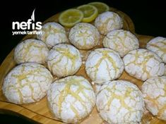 "to make a ""Starch-Free"" Recipe with Lemon Cracked Cookies? How to make a ""Starch-Free"" Recipe with Lemon Cracked Cookies?, How to make a ""Starch-Free"" Recipe with Lemon Cracked Cookies? Coconut Donut Recipe, Starch Free Recipe, Cracked Cookies, Healthy Donuts, Sheet Cake Recipes, Sweet Cookies, Everything Bagel, Lemon Recipes, Turkish Recipes"