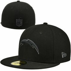 New Era San Diego Chargers Black Gray Basic Fitted Hat - Black